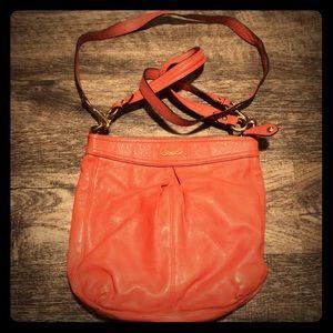 🔥Pink Coach Messenger side purse